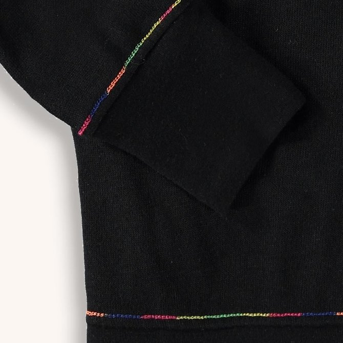 Rainbow Stitch Shirt Black