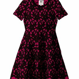 Milly Mini Floral Mesh Jacquard Dress