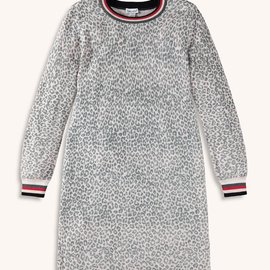 Splendid Leopard Print Sweater Dress