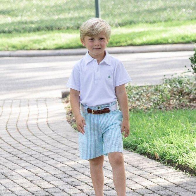The Bailey Boys J Bailey Mint Stripe Seersucker Pete Short