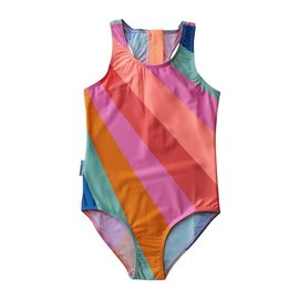 Mini Sandcrabs Offbeat Rainbow Sporty Zip One Piece