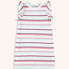 Splendid Multi Stripe Dress Optic White
