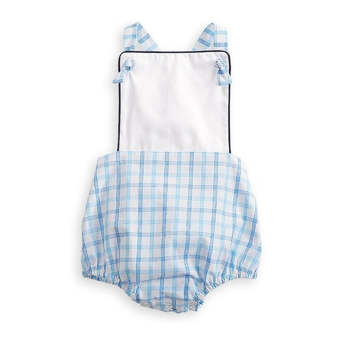 Bella Bliss Becham Bubble- Blue Grid