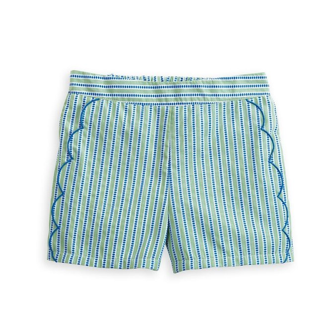 Bella Bliss Brinkley Short Green Dotty Stripe