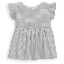 Bella Bliss Deckard Blouse Grey Stripe