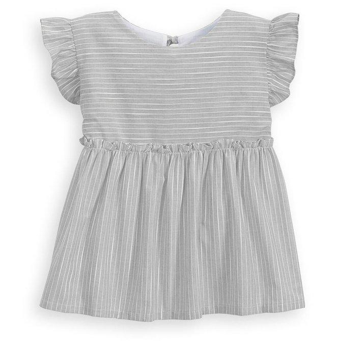 Bella Bliss Deckard Blouse Grey Stripe