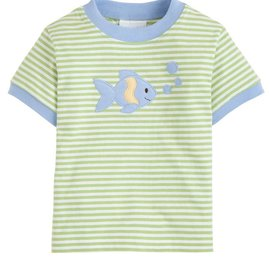 Little English Fish Applique T-Shirt