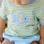 Little English Fish Applique T-Shirt