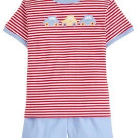 Little English Car T-Shirt Short Set
