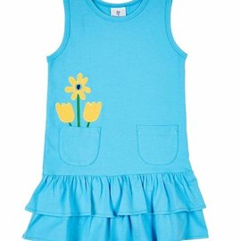 Florence Eiseman Blue Dress with Flower Pocket
