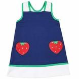 Florence Eiseman Stripe Dress with Strawberry Pockets