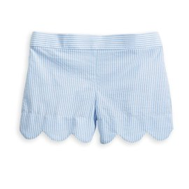 Bella Bliss Jane Scalloped Short Blue Seersucker