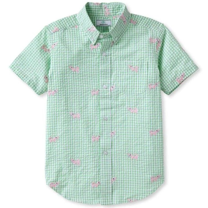 CPC Childrenswear Apple Green Alligators Shirt