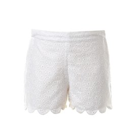 Rachel Riley Broderie Scalloped Shorts Ivory