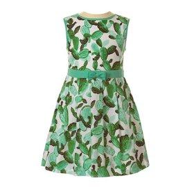 Rachel Riley Cactus Pleated Dress