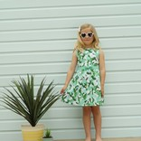 Rachel Riley Cactus Pleated Dress