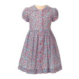 Rachel Riley Blue Floral Button Front Dress