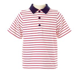 Rachel Riley Striped Polo Red/Ivory