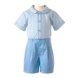 Rachel Riley Gingham Shirt and Short Set