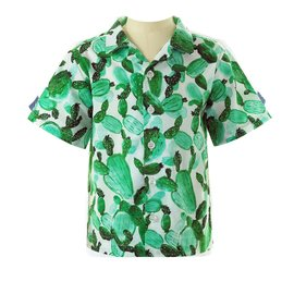 Rachel Riley Boys Cactus Button Down Shirt