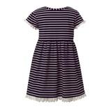 Rachel Riley Brenton Stripe Jersey Dress Navy