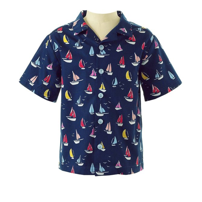 Rachel Riley Sailboat Shirt