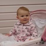 Rachel Riley Bunny Babygro- Blue & Pink