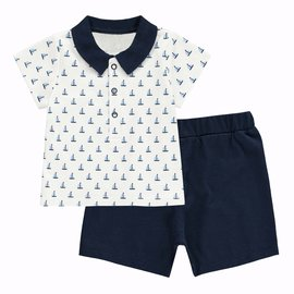 Rachel Riley Sailboat Polo and Short Set