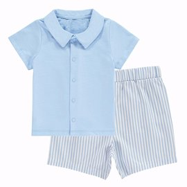Rachel Riley Striped Short and Jersey Shirt Set