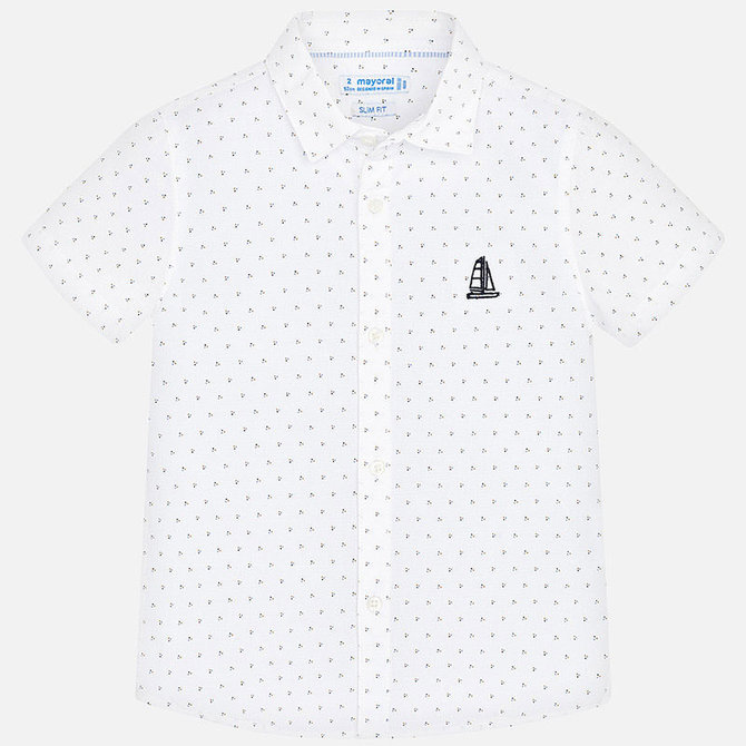 Mayoral Short Sleeve Button Down Dots