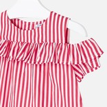 Mayoral Red Stripes Shirt