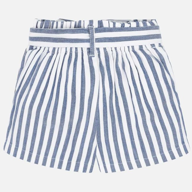 Mayoral Blue & White Linen Shorts