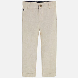 Mayoral Khaki Linen Pants