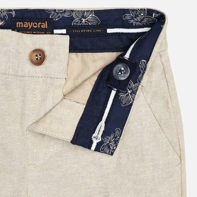 Mayoral Khaki Linen Pants