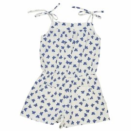 Busy Bees Francis Romper- Navy Butterfly