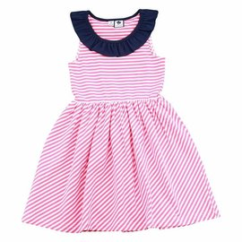 Busy Bees Jessica Dress- Pink Stripe Knit