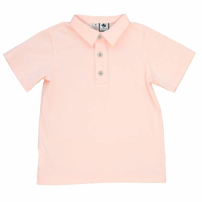 Busy Bees Polo - Light Pink Knit