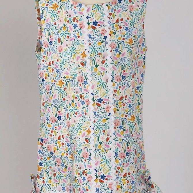 Peggy Green Sophie Dress- Sur la Mer with White Ric Rac