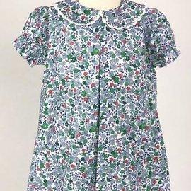 Peggy Green Short Sleeve Day Dress- Salem Floral