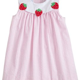 Little English Strawberry Bib Dress