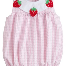 Little English Strawberry Bib Bubble