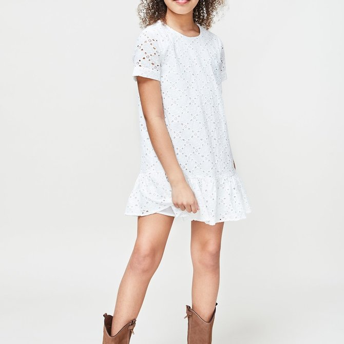Milly Mini Leaf Eyelet Cece Dress