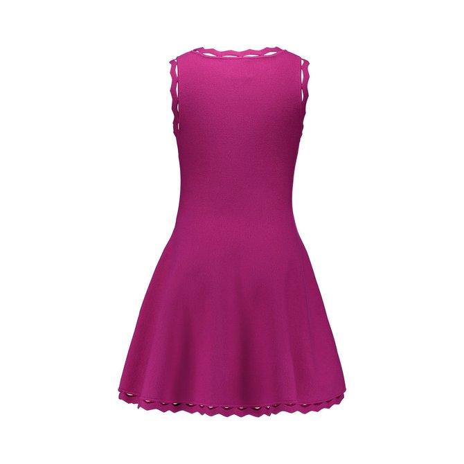 Milly Mini Zig Zag Trim Flare Dress