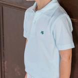 The Bailey Boys Short Sleeve Polo Seaglass Stripe