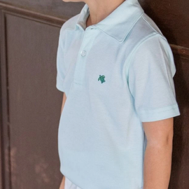 The Bailey Boys Short Sleeve Polo Seaglass Stripe