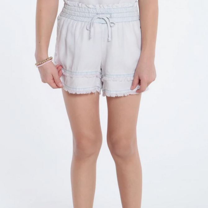 Bella Dahl Fray Hem Short - Sweet Rose
