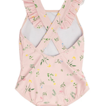 Minnow Swim Girls Botanical Pink Crossover One Piece