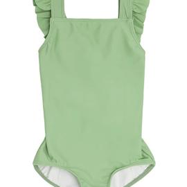 Minnow Swim Girls Spring Green Crossover One Piece