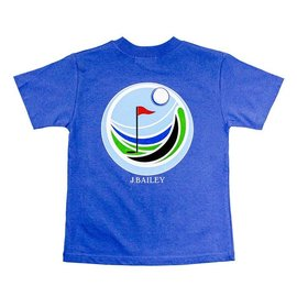 The Bailey Boys Logo Tee, Golf on Chambray