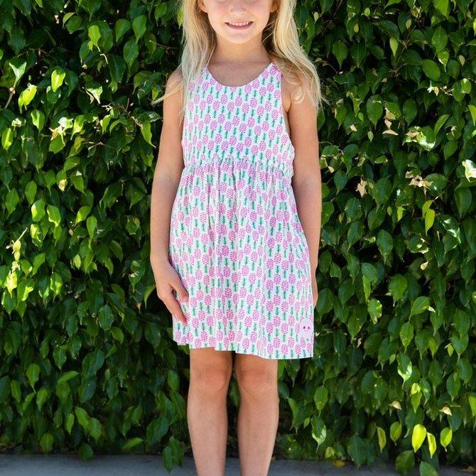 Smiling Button Pineapple Kiss Dress